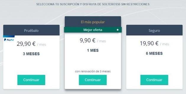 precio solteros 50